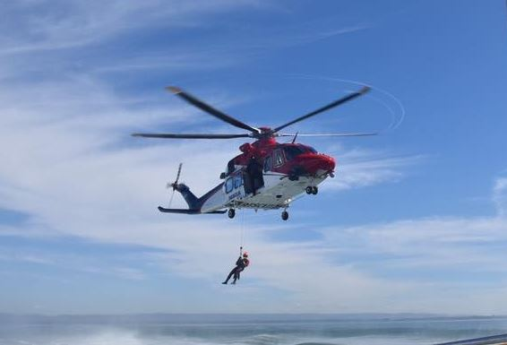 "Brisbane-based helicopter service Rescue 500 had been searching the Caloundra waters for ""about an hour"" this morning."