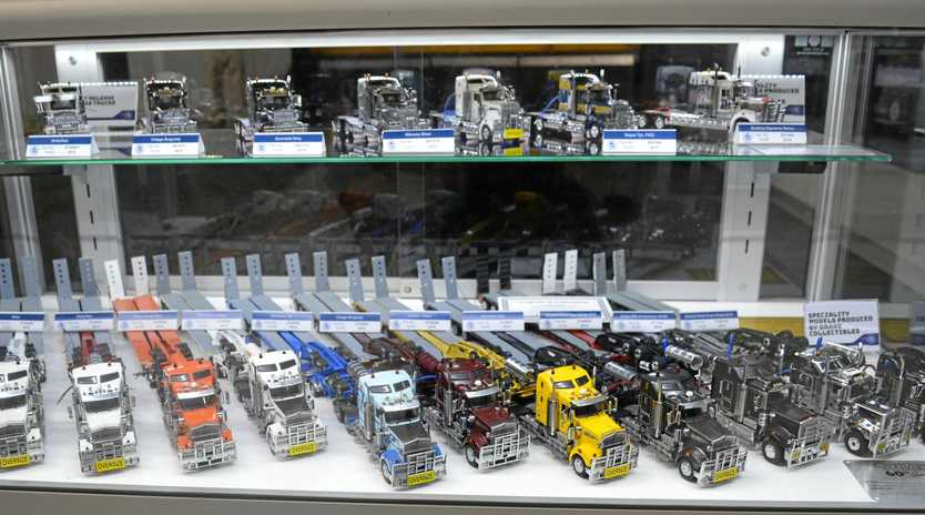MODEL TRUCKS: Some of the Drake range was on display at the Brisbane Truck Show.