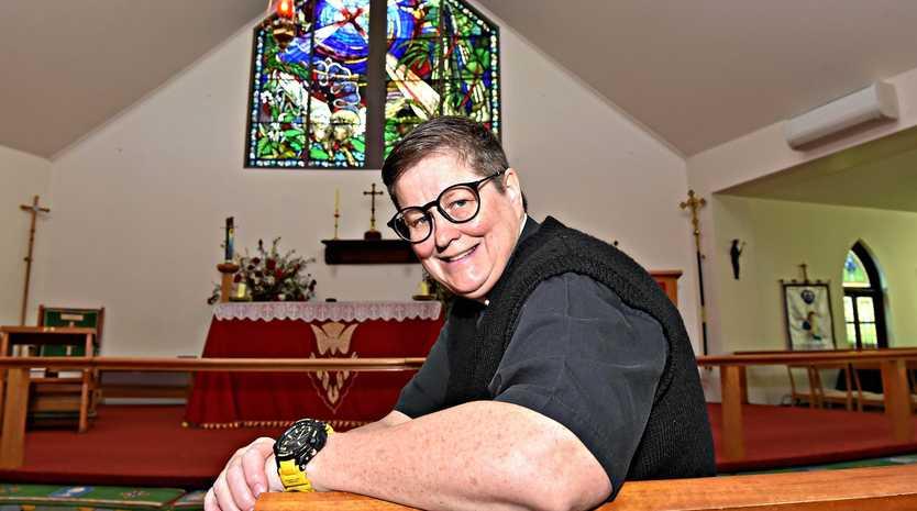 PRAISE: Parish Priest Moira Evers welcomes the LGBTQI+ community at Buderim church, St Mark's.