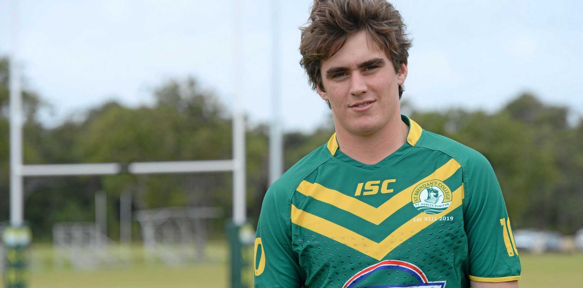 LEADING THE WAY: St Brendan's First XIII co-captain and back rower Bill Gunning will have a big part to play in his team's two crucial games in the Aaron Payne Cup in Mackay this week.
