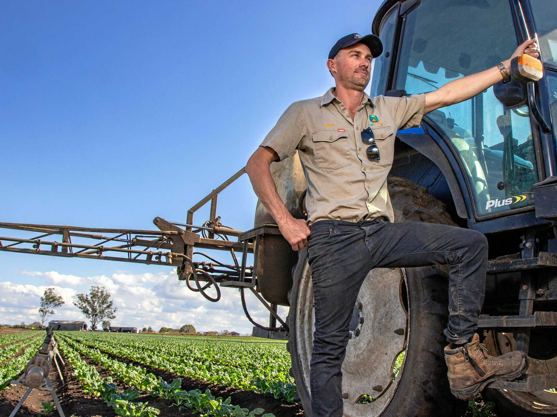 EYE ON THE SKY: While the warm weather is welcome Glenore Grove vegetable farmer Brett Simon said it meant farmers would need to spray for diseases more often through the winter.