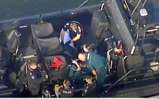 SCARY: Two men and a child, 7, were rescued off Caloundra after a dramatic six-hour search which has left the little boy fighting for his life in hospital.