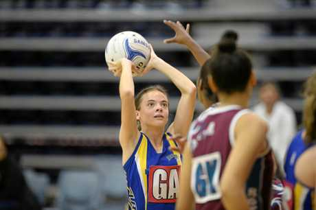 WIDE-EYED: Hannah Williams shot well on the weekend for Gladstone's under-17 team.