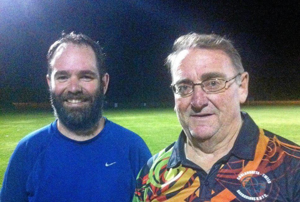 TOP JOB: Captain Jamie Brindley and coach Leon Darmody.