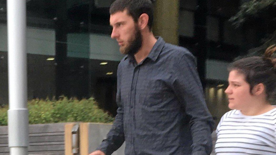 BE GOOD: Bradley Stuhlfauth walks from Ipswich Courthouse.