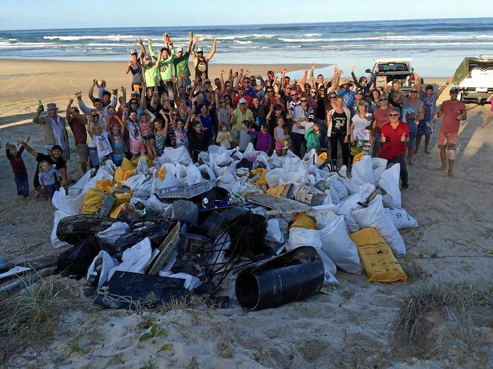 Surfrider Foundation Sunshine Coast Branch's three-day clean up of Double ISland Point last December collected more than 2 tonnes of rubbish off 60 kms of beach.