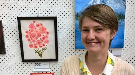 Tash Clausen won second prize for painting in the Year 11-12 category.