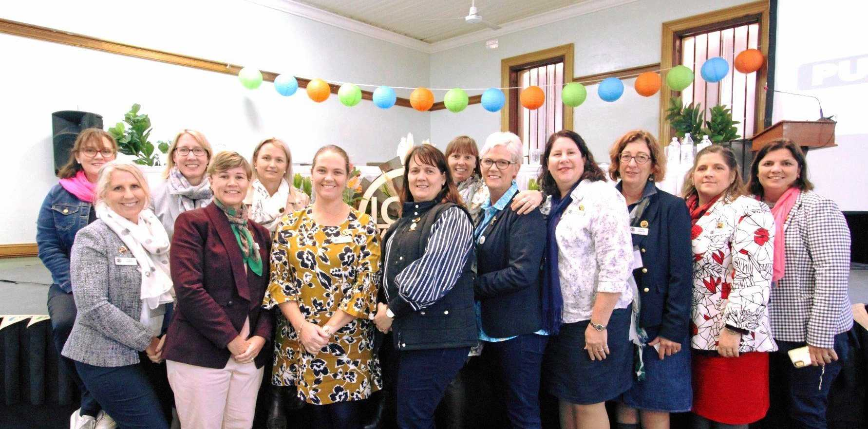 The newly elected ICPA Queensland State Council. Back: Kelly Ostwald, Louise Winten, Kasie Scott, Melissa Iland. Front: Jessie Persse, Kate Bradshaw, Tammie Irons, Amanda Clark, Sonia Spurdle, Michelle Freshwater, Louise Martin, Kim Donaldson, Wendy Henning.