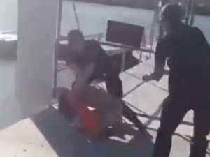 Dramatic video shows cops taser naked man