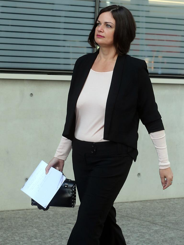 Failed Gold Coast mayoral candidate Penny Toland arrives at court in Brisbane today. Picture: AAP.