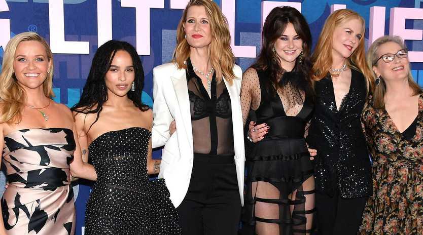 Reese Witherspoon, Zoe Kravitz, Laura Dern, Shailene Woodley, Nicole Kidman and Meryl Streep attend the Big Little Lies Season 2 Premiere. Picture: AFP