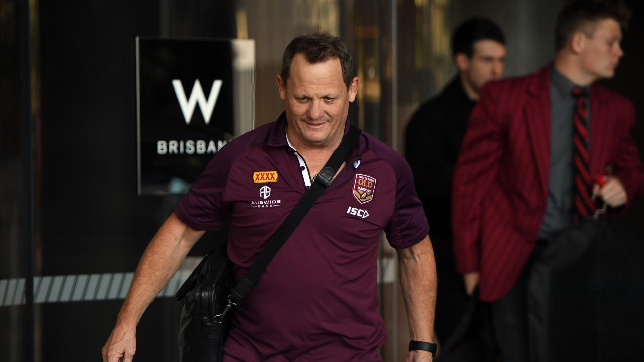 Queensland Maroons coach Kevin Walters was a keen spectator at the Broncos-Titans game and Jarrod Wallace is eager to impress. Picture: AAP Image/Dan Peled