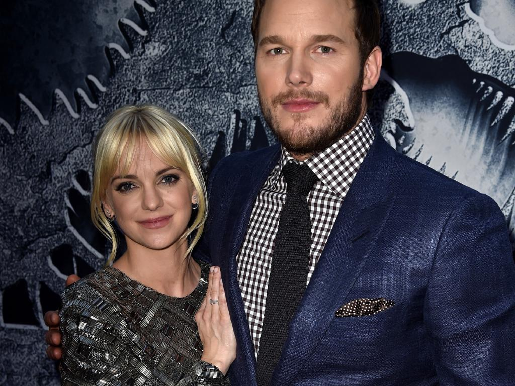 Chris Pratt (R) and Anna Faris were married previously and share a son together. Picture: Kevin Winter/Getty Images