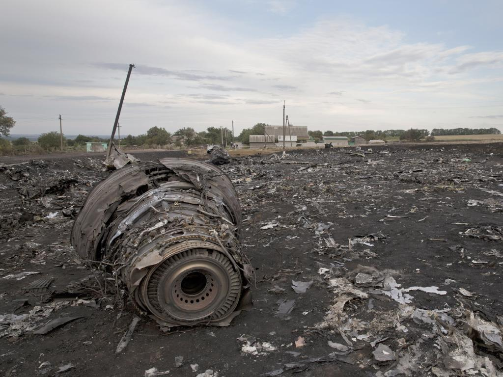 The Grabovo main crash site of flight MH17. Picture:  Ella Pellegrini
