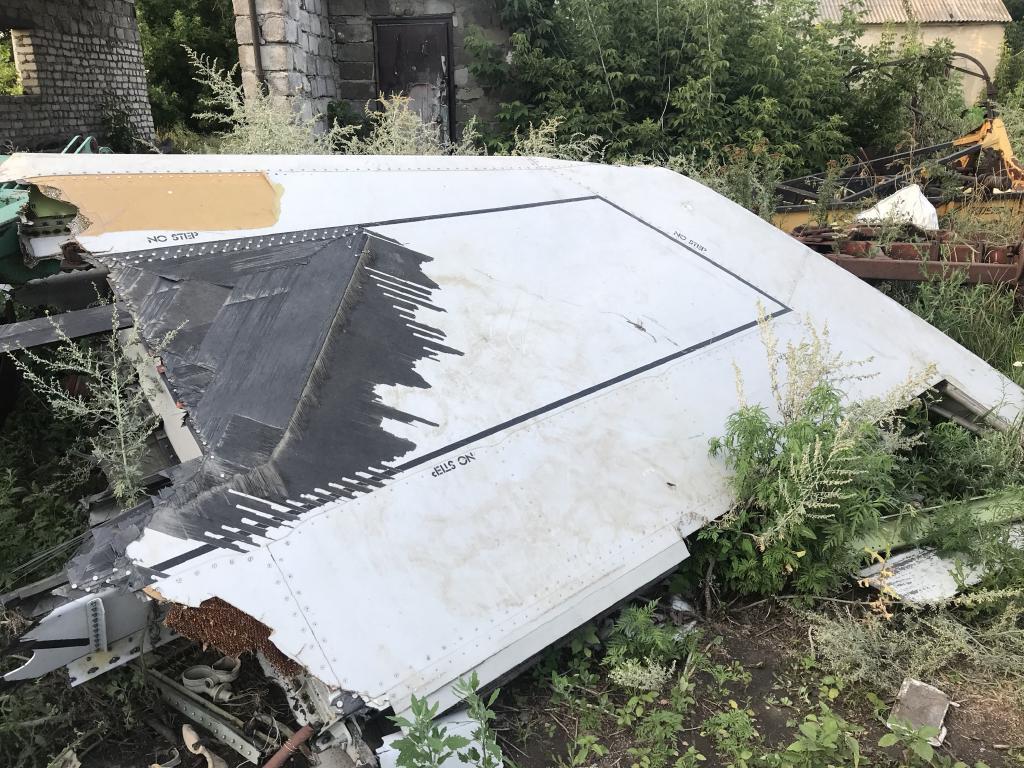 Debris and plane parts  from MH17. Picture: Ella Pellegrini