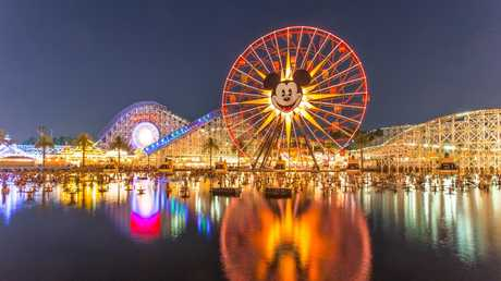 By night, Pixar Pier at California Adventure Park is a vision splendid.