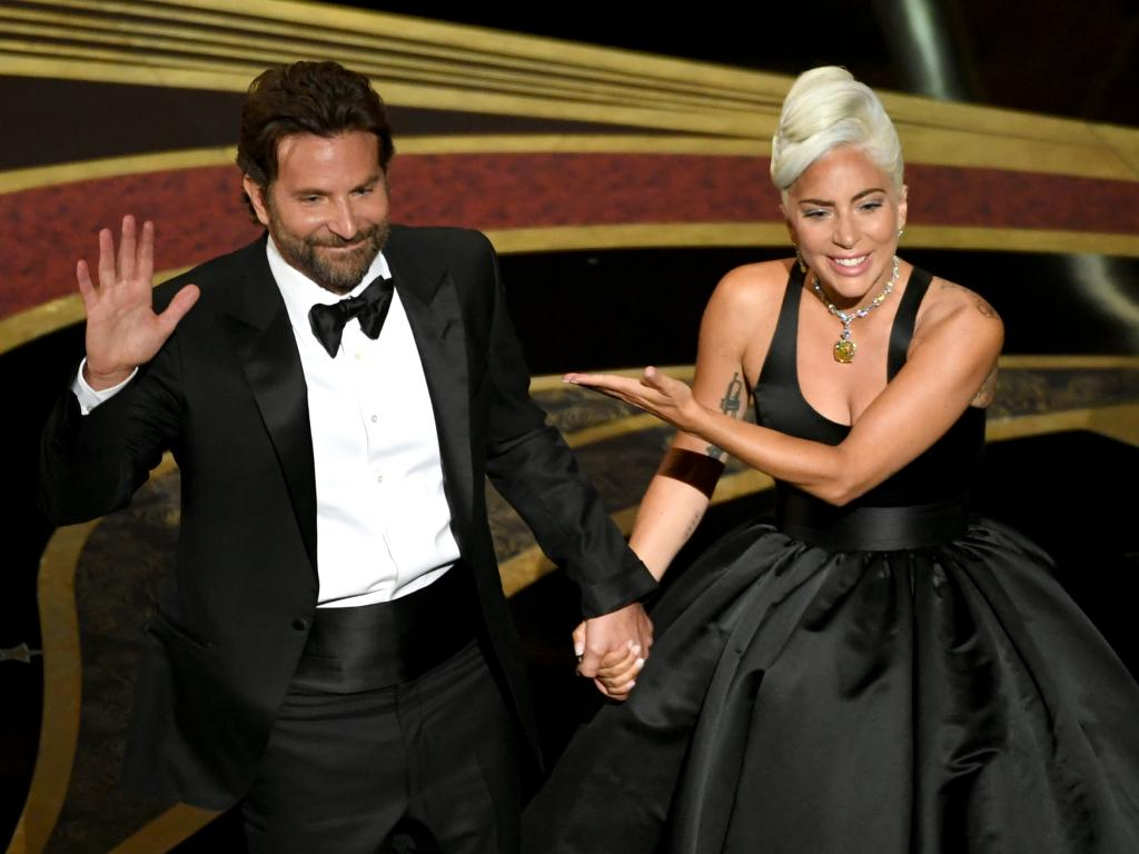 Bradley Cooper and Lady Gaga after their sizzling performance at the Oscars. Picture: Getty