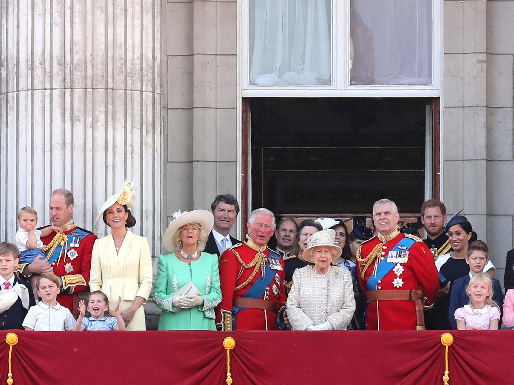 Trooping the Colour is held each year to honour the Queen's birthday. Picture: Getty