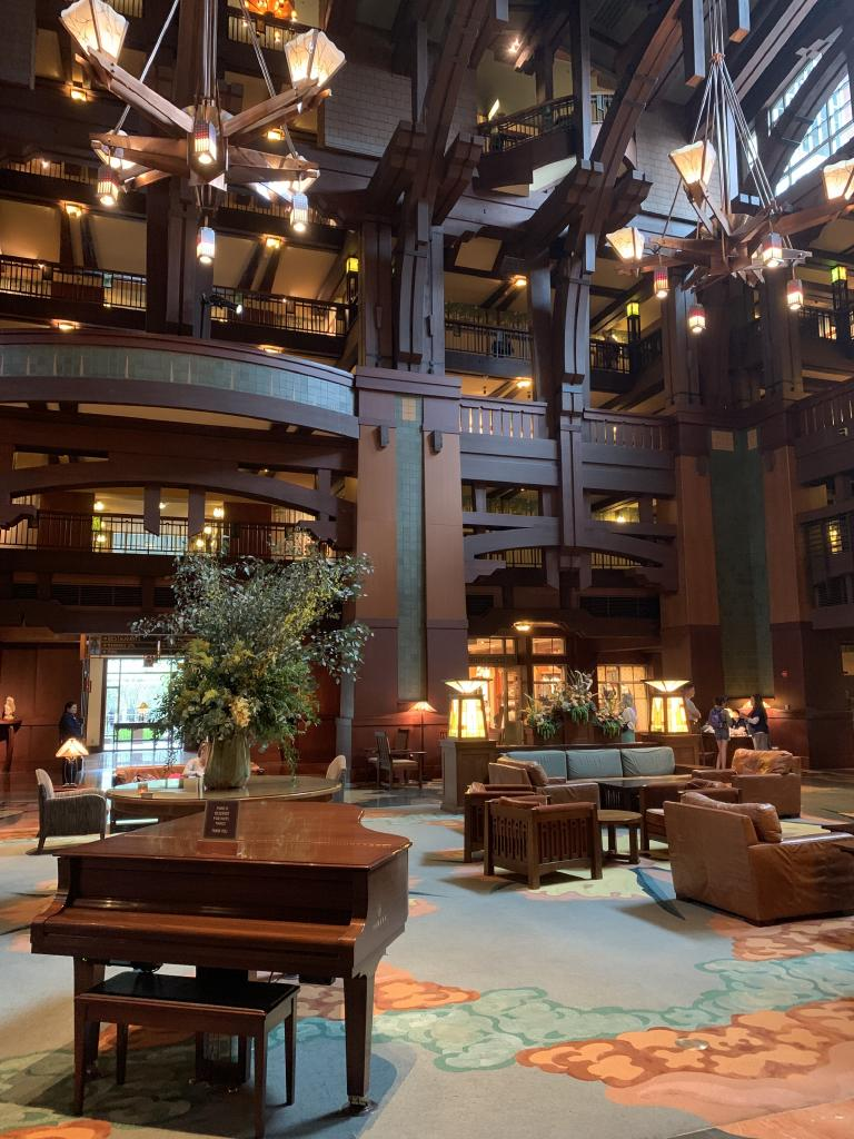 Disney's Grand Californian Hotel & Spa, Anaheim, was built in the Arts and Crafts style.