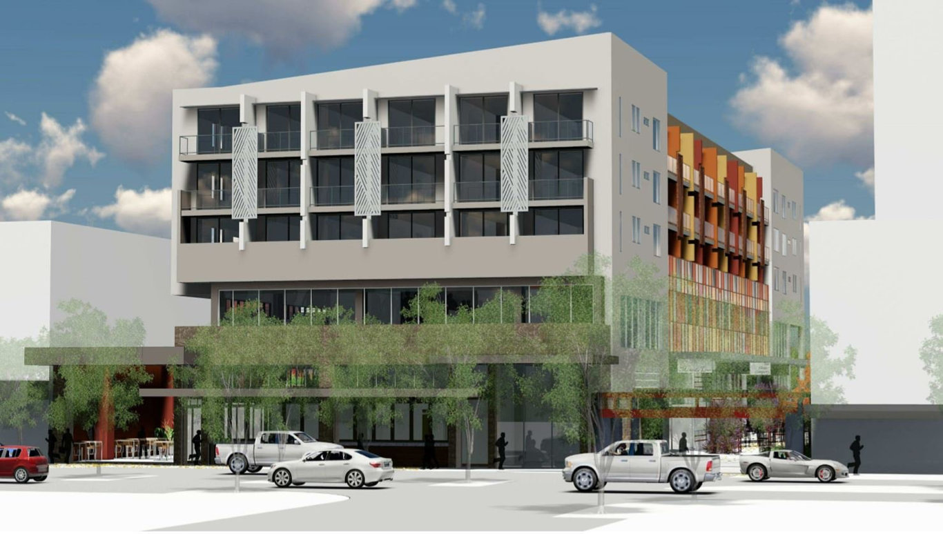 The concept plans for the Oaks Hotel on Ruthven St at the former Gladstone Hotel.
