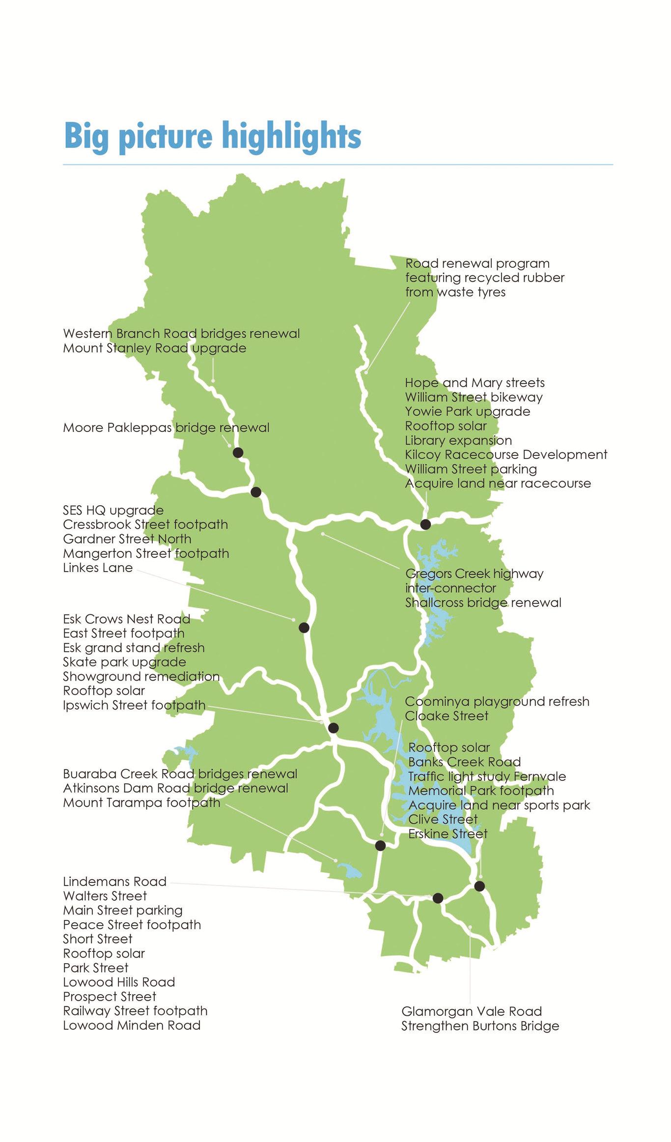 Somerset Regional Council Budget map.