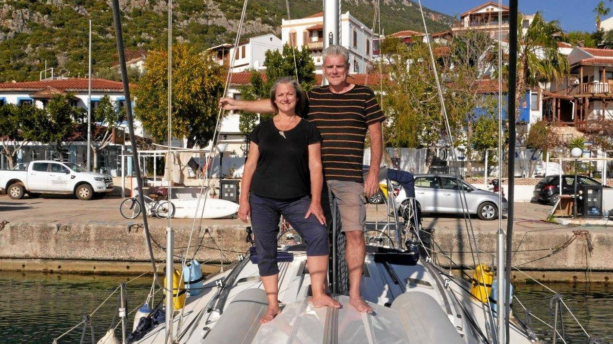 AHOY: Barry and Aannsha Jones sold their home in Australia with plans to sail into their retirement.