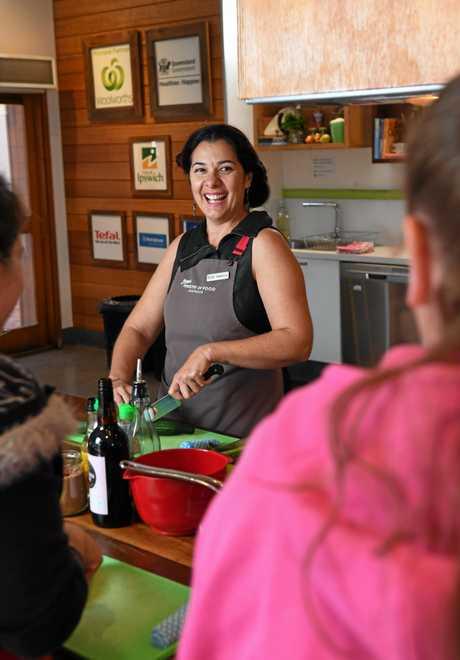 Jamie's Ministry of Food Ipswich food trainer Rebecca Zappala.