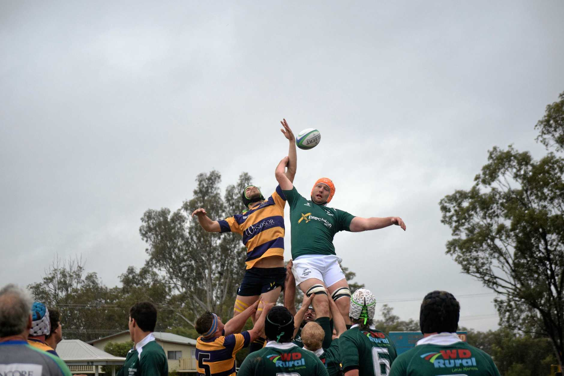GREAT MATCH: The Condamine Cods go head to head with the Dalby Wheatmen A Grade.