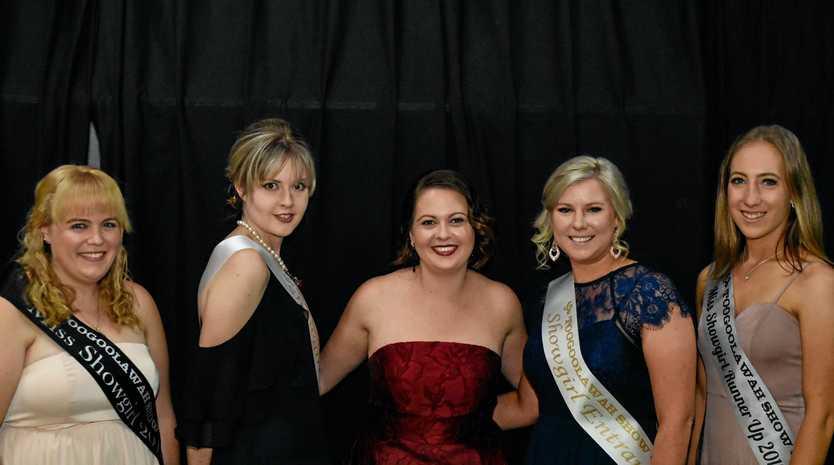 SHOWGIRLS: Jessica Nasmyth (runner up 2019), Paris Granzien, Bianca Wheildon (winner 2019).