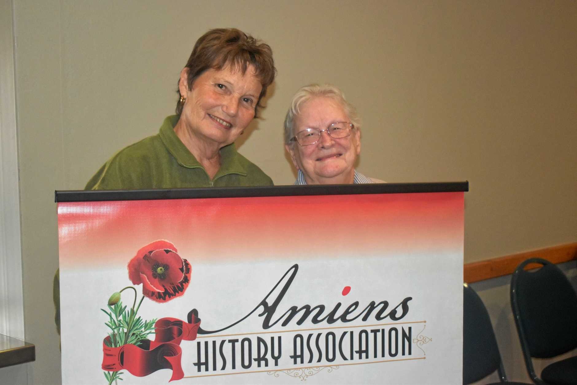 SCHOOL'S OUT: Colleen Willis and Heather Dux, of the Amiens Historiical Association.