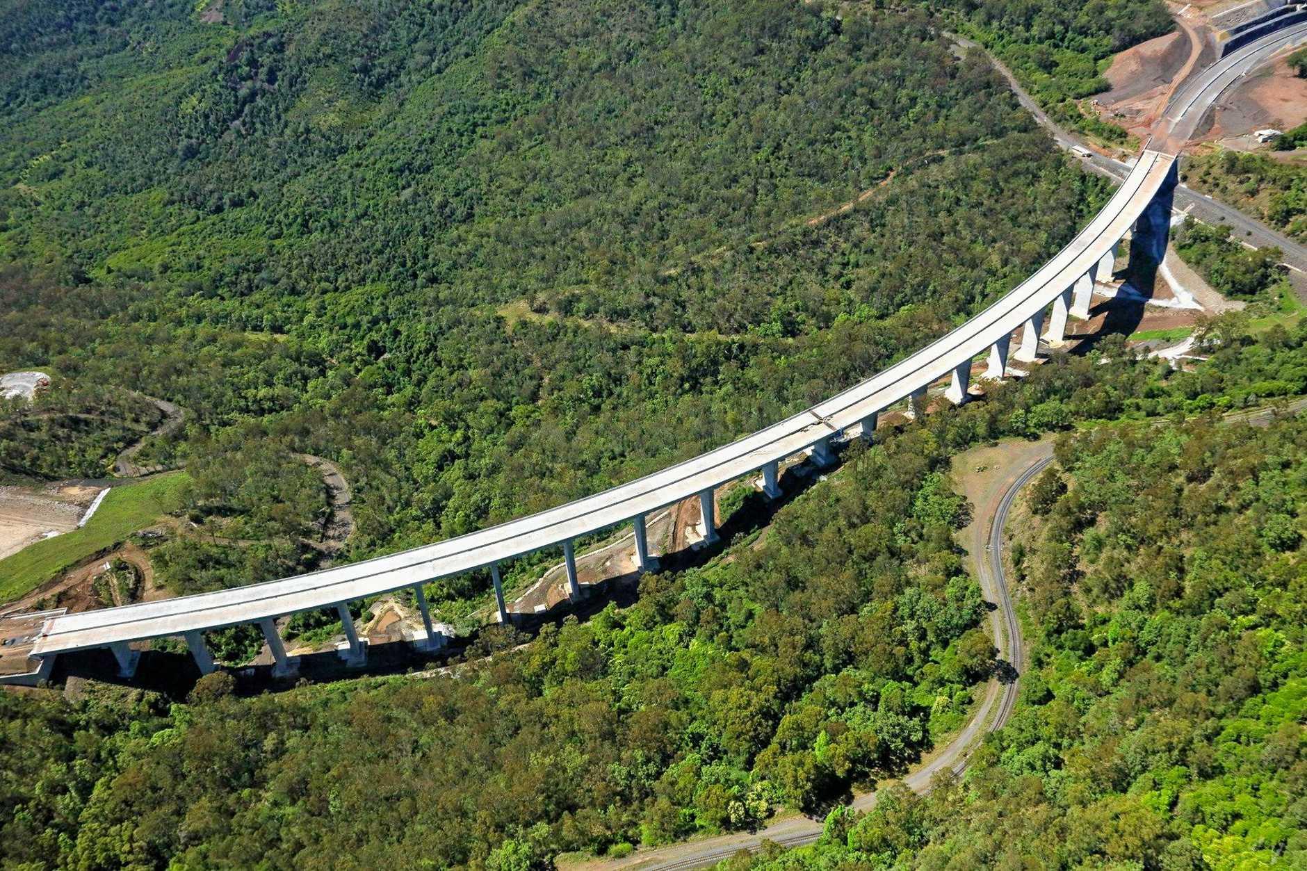 The Toowoomba Second Range Crossing viaduct.