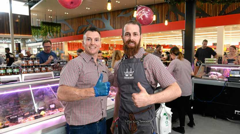 DOING THEIR BIT: Two Butchers owners Steve McMeniman and Ken Kearney.