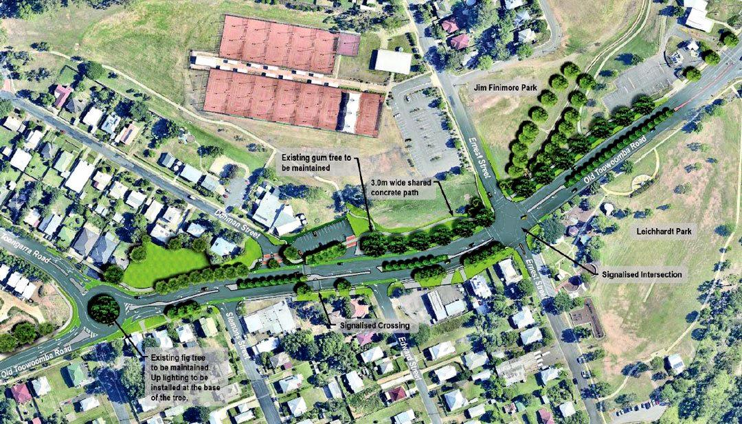 An artist's impression of the Old Toowoomba Rd four lane project