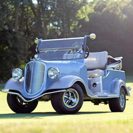 Cool, a schmicko Rolls Royce Phantom buggy, affordable and environmentally friendly.