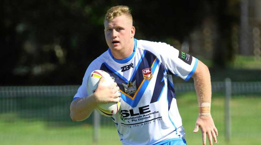 Kyogle's Brock Westerman on the run for Northern Rivers in the NSW Country Championships.