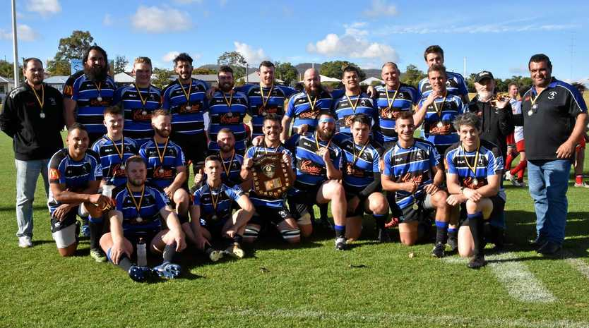SUCCESSFUL TRIP: The Far North Coast team that won the Richardson Shield at the NSW Country rugby union championships at Tamworth.