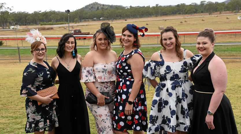 OUT AND ABOUT: Anna Morgan, Kelly Morgan, Paige Foden, Emma Oppermann, Alex Shepherd and Laura Moerland at the 2019 Gayndah Races.