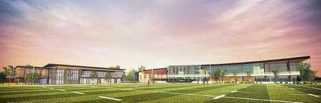 KICKING GOALS: Concept design plans of the Glenholme Park Multi-Sports Centre earmarked for the corner of Hursley Rd and Boundary St in Glenvale.