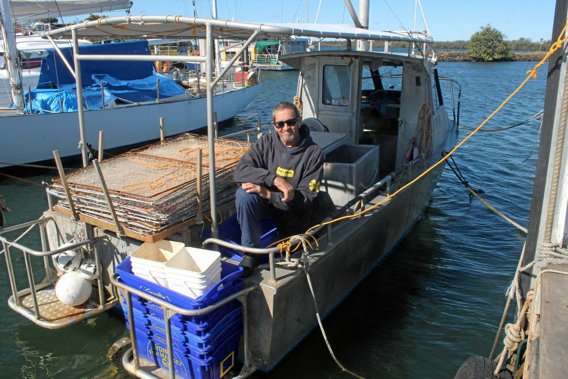 INDUSTRY THREAT: Ballina professional fisherman Cliff Corbett says quotas imposed on catches are threatening the industry.