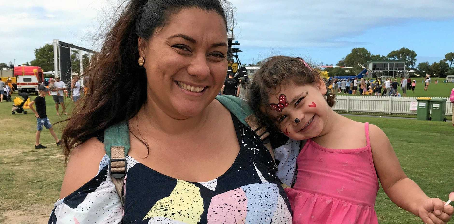 FAMILY FUN: Ramona Burke with Georgia Dean, 2, who loved her face paint at the Emergency Services Day held at Harrup Park on Sunday. They loved learning about all the different emergency services within the Mackay region.