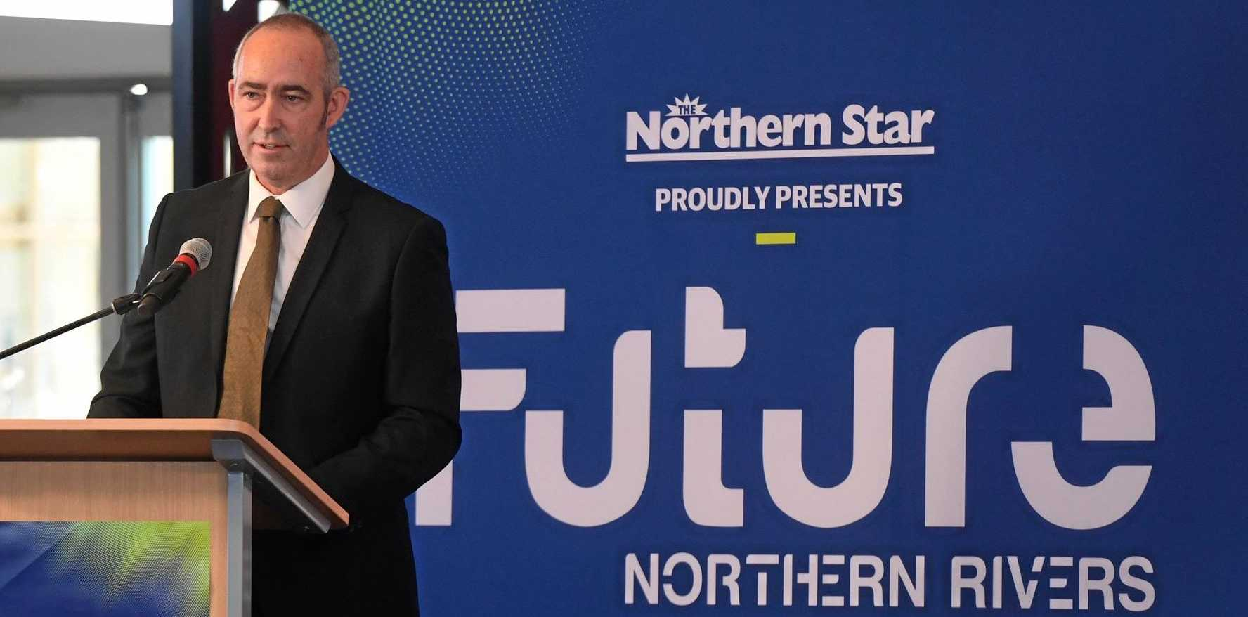 Northern Star editor David Kirkpatrick at the Future Northern Rivers event at SCU.