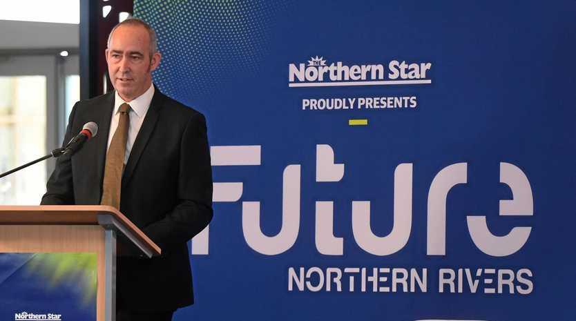 Northern Star editor David Kirkpatrick at the Future Northern Rivers event at SCU.