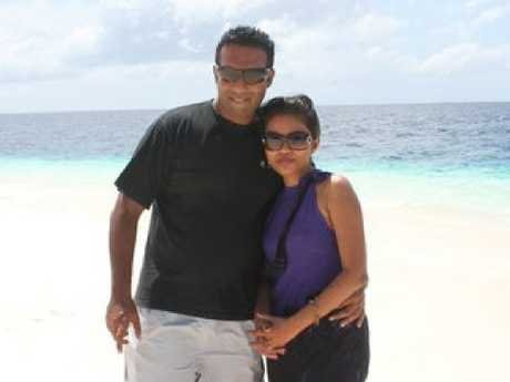 Bharathi Singh and her husband who live in Queensland. Picture: Facebook/BharathiRanjitSingh