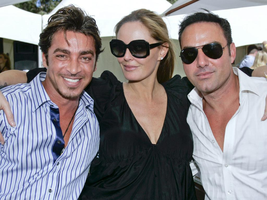 John Ibrahim and Mim Salvato with the late Charlotte Dawson.