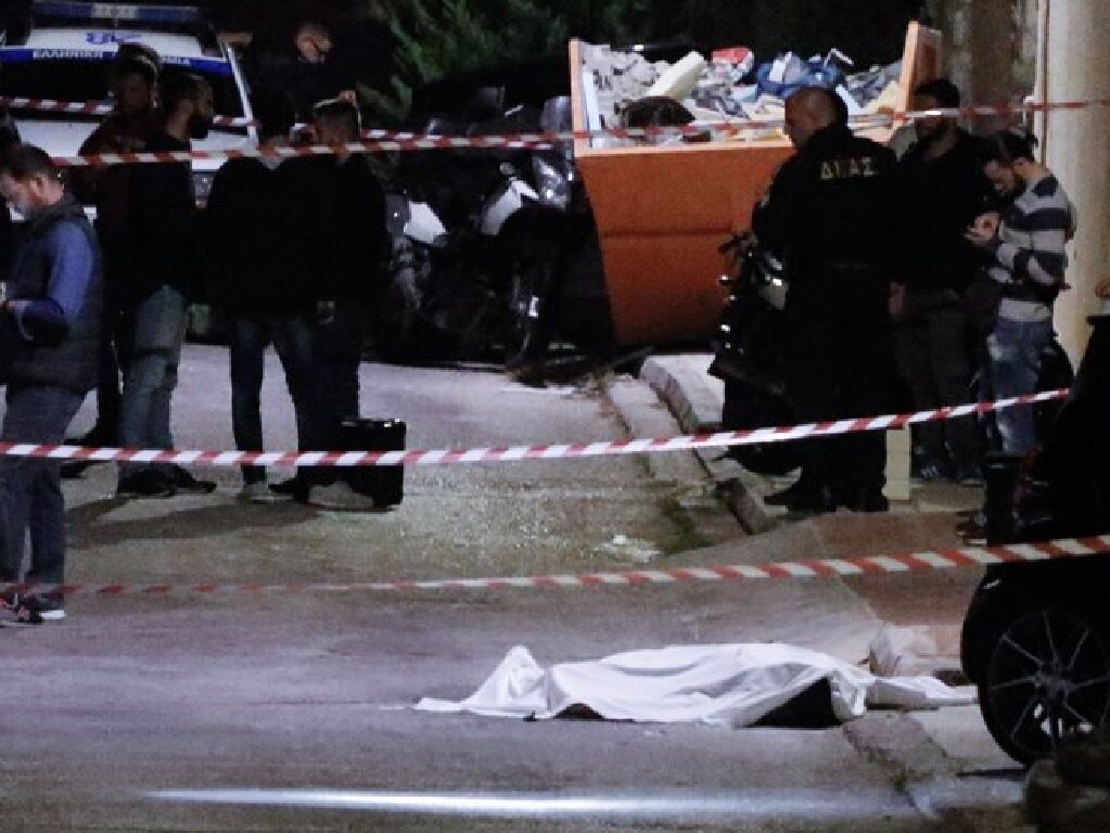 John Macris was shot dead outside his home in Athens. Picture: Protothema Greece