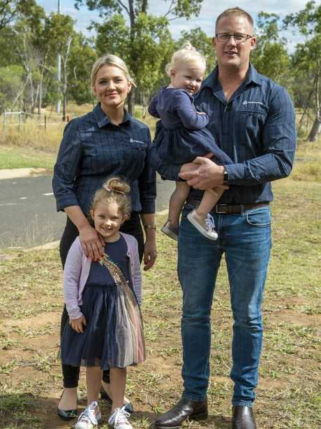 Chris and Emma Moger, daughters Halle, 4, and Ruby, 1. Picture: Daryl Wright