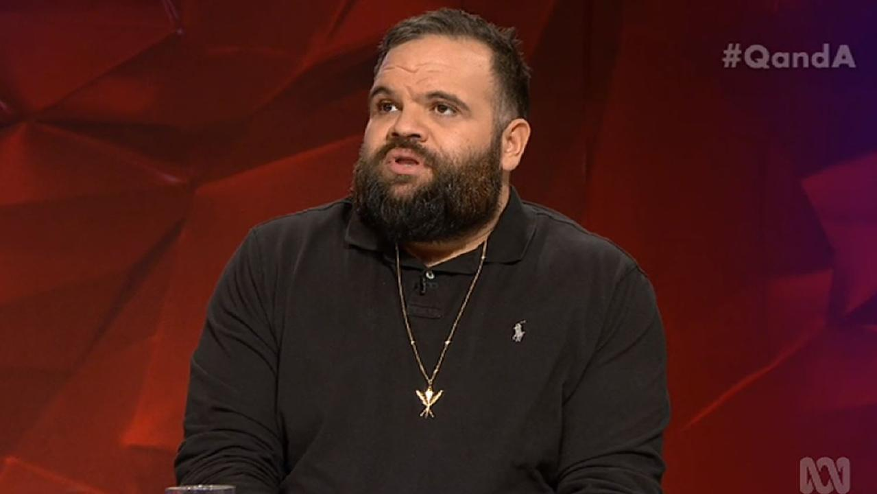 Adam Briggs on Q&A. Source: ABC