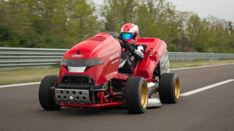 The Honda Mean Mower V2 has a top speed of 243km/h.