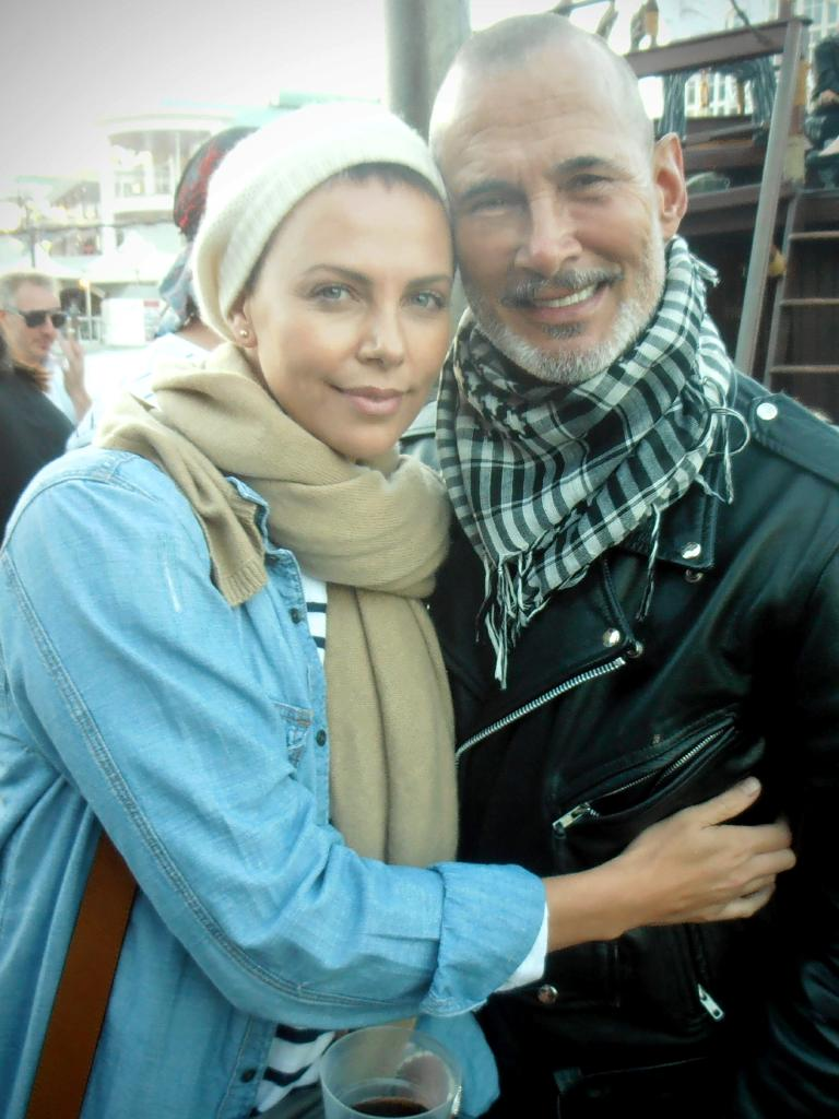 Charlize Theron with Norton. Picture: Supplied.