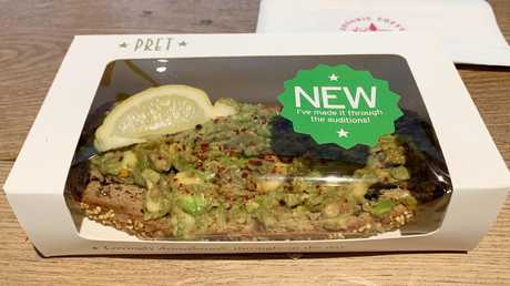 Pret's avocado smash had 'made it through the auditions'. The competition can't have been fierce.